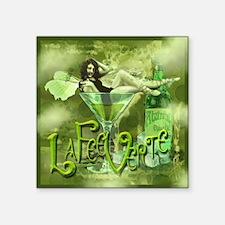 """La Fee Verte In Glass Collage Square Sticker 3"""" x"""