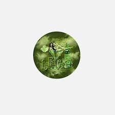 La Fee Verte In Glass Collage Mini Button