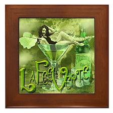 La Fee Verte In Glass Collage Framed Tile