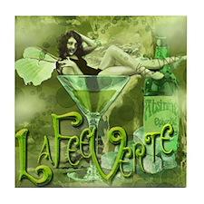 La Fee Verte In Glass Collage Tile Coaster