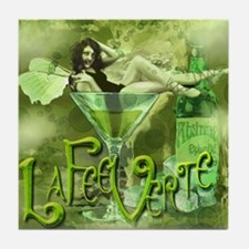 La Fee Verte In Glass Collage Tile Coaster