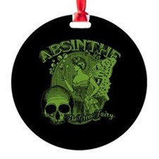 Absinthe Green Fairy Lady Collage Ornament