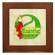 Red Dress Absinthe Ophelie Framed Tile