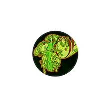 Art Nouveau Style Ophelia's Absinthe Mini Button