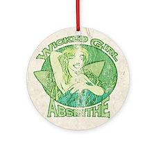 Vintage Wicked Girl Absinthe Ornament (Round)