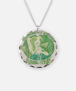 Vintage Wicked Girl Absinthe Necklace