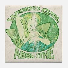 Vintage Wicked Girl Absinthe Tile Coaster