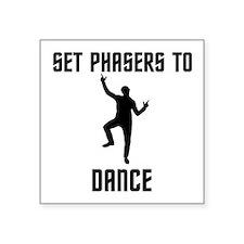 "Dancing Spock Square Sticker 3"" x 3"""