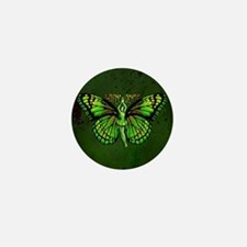 Green Fairy Wings Spread Mini Button