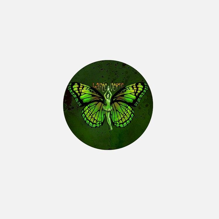 Green Fairy Wings Spread Mini Button