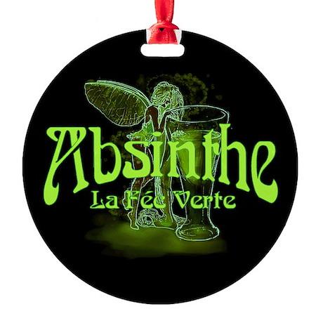 Absinthe Fairy Dark Round Ornament