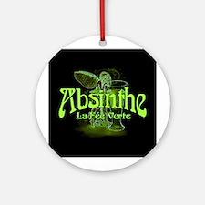 Absinthe Fairy Dark Ornament (Round)