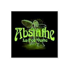 """Absinthe Fairy Dark Square Sticker 3"""" x 3"""""""
