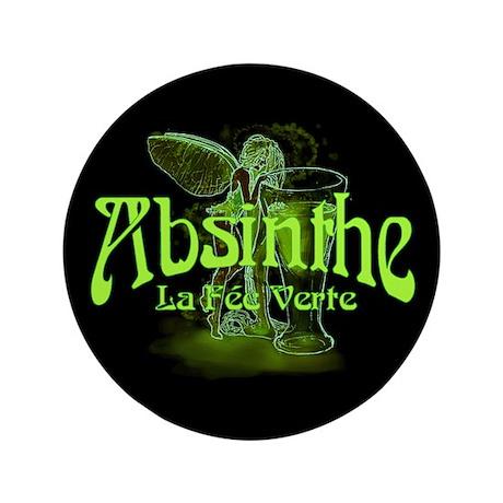 """Absinthe Fairy Dark 3.5"""" Button"""