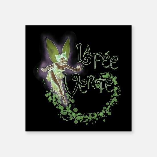 """Dark Absinthe Fairy Square Sticker 3"""" x 3"""""""