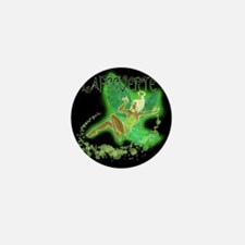 Dark Green Fairy Flying Mini Button
