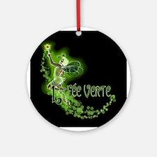 Dark Absinthe Fairy Flying Ornament (Round)