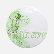 Absinthe Fairy Flying Ornament (Round)