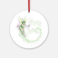 Absinthe Fairy Flitting Ornament (Round)