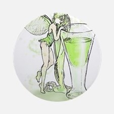 Absinthe Fairy Toying With Glass Ornament (Round)