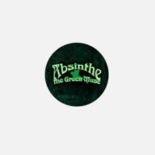 Absinthe The Green Muse Mini Button