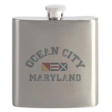 Ocean City MD - Nautical Design. Flask