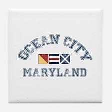 Ocean City MD - Nautical Design. Tile Coaster