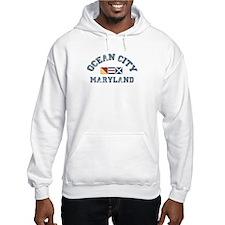 Ocean City MD - Nautical Design. Hoodie Sweatshirt