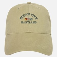 Ocean City MD - Nautical Design. Baseball Baseball Cap