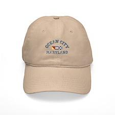 Ocean City MD - Nautical Design. Baseball Cap