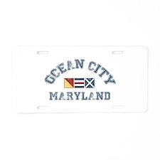 Ocean City MD - Nautical Design. Aluminum License