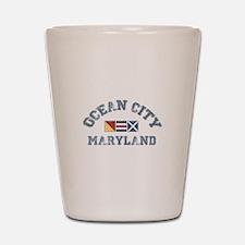 Ocean City MD - Nautical Design. Shot Glass