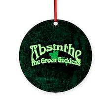 Absinthe The Green Goddess Ornament (Round)