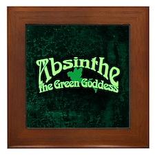 Absinthe The Green Goddess Framed Tile
