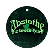 Absinthe The Green Fairy Ornament (Round)