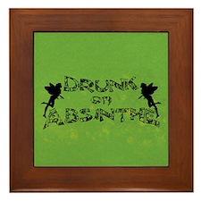 Drunk On Absinthe Framed Tile