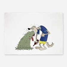 Vomiting dog.png 5'x7'Area Rug