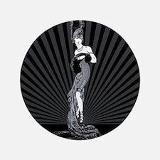 "Art Deco Corset Glamour 3.5"" Button"