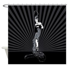 Art Deco Corset Glamour Shower Curtain