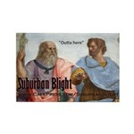 Suburban Blight School of Athens Rectangle Magnet