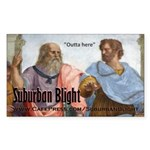 Suburban Blight School of Athens Sticker (Rectangl