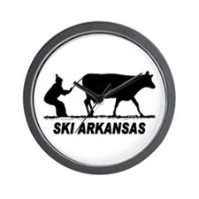 The Ski Arkansas Shop Wall Clock