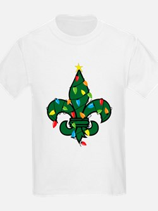 Fleur De Lis Christmas T-Shirt