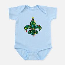 Fleur De Lis Christmas Infant Bodysuit