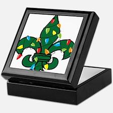 Fleur De Lis Christmas Keepsake Box