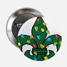 "Fleur De Lis Christmas 2.25"" Button"