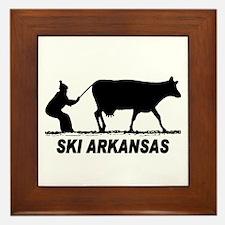The Ski Arkansas Shop Framed Tile