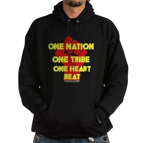 One Nation, One Tribe, One Heart Beat Hoodie (dark