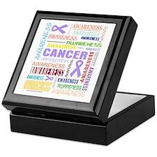 General Cancer Awareness Collage Keepsake Box