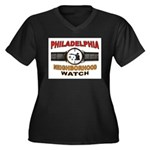 PHILADELPHIA Women's Plus Size V-Neck Dark T-Shirt